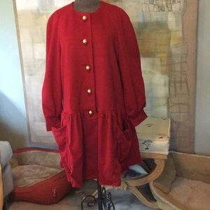 Vtg Moschino Couture 100% Wool DressCoat